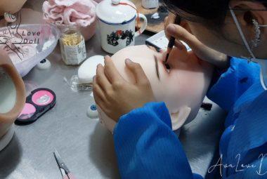 recoller cils poupée tpe maquillage yeux