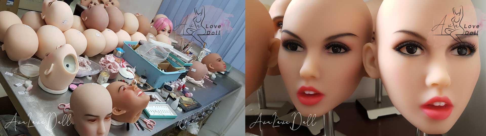 6YE Premium Maquillage Visage Poupée TPE